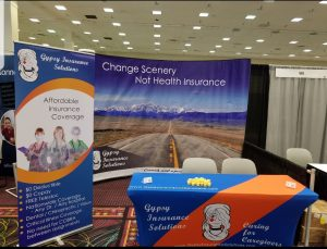 Gypsy insurance solutions booth at TravCon conference